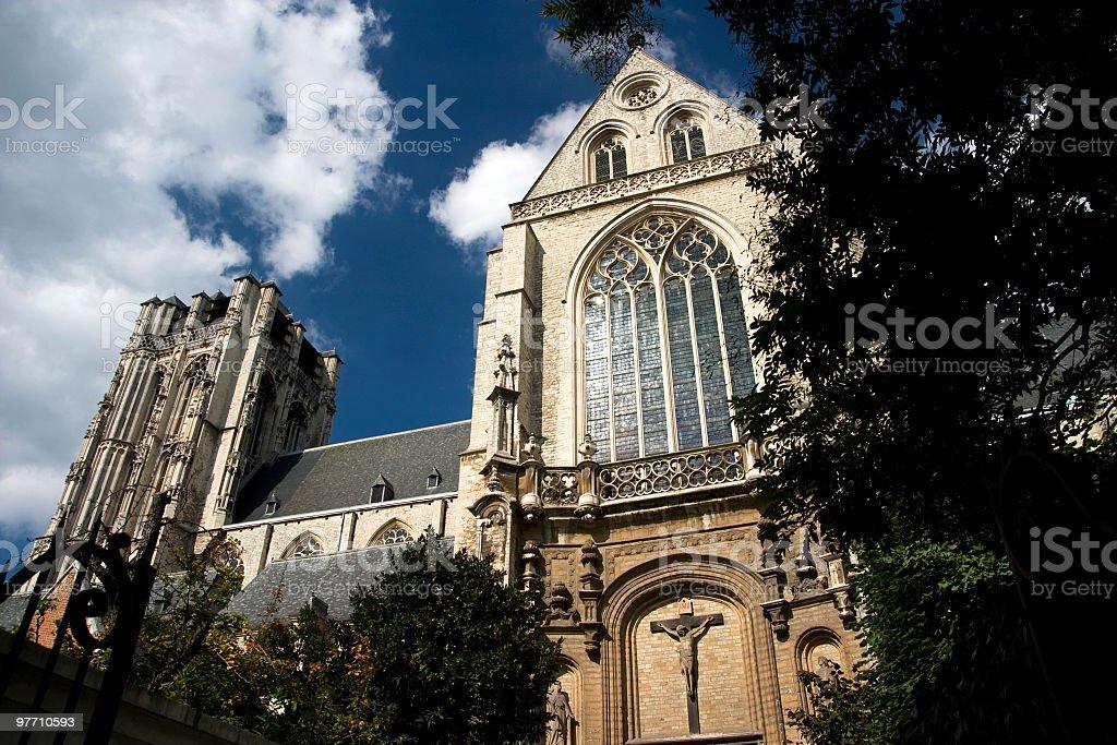 St. Jakobs-Kirche in Antwerpen Lizenzfreies stock-foto