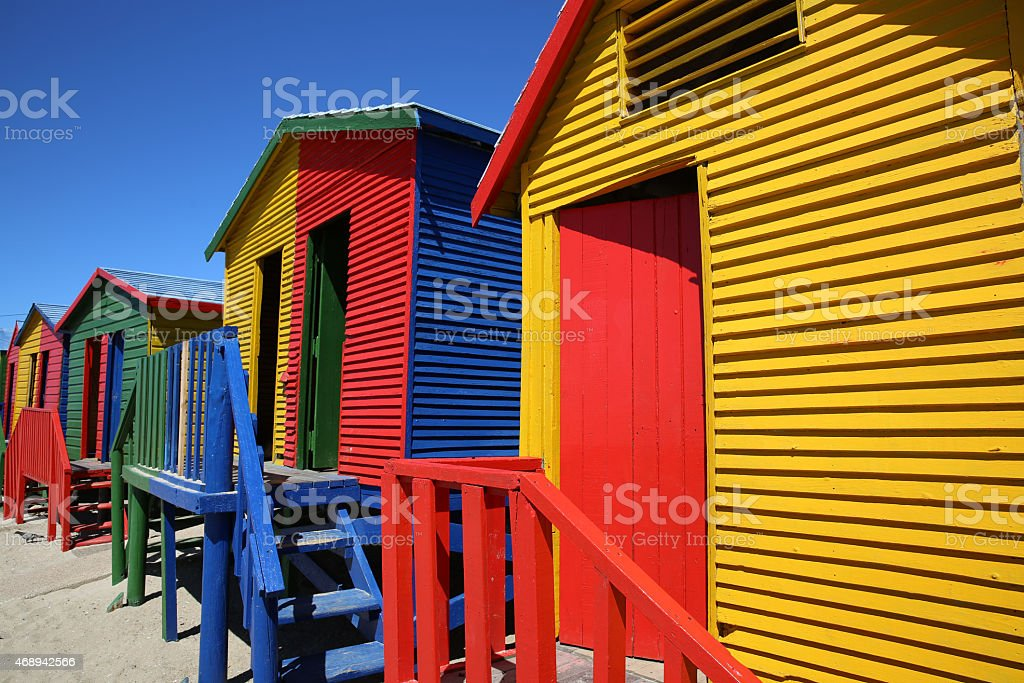 St James Beach. Cape Town stock photo