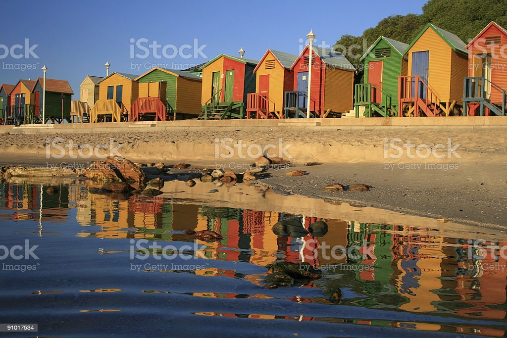 St James Beach in Cape Town, South Africa royalty-free stock photo