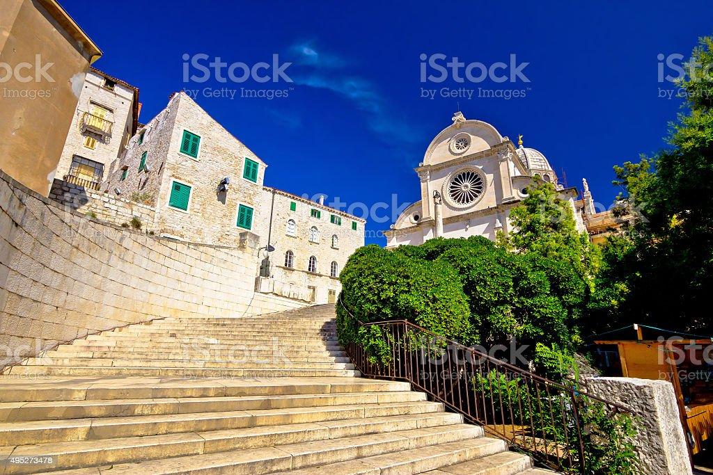 St James cathedral in Sibenik stock photo