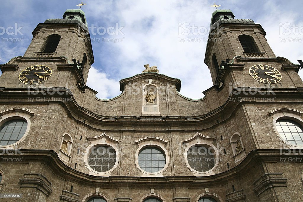 St. James cathedral Innsbruck royalty-free stock photo