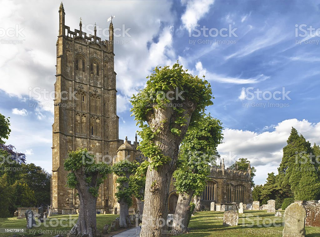 St James church in Chipping Campden, Cotswolds, UK royalty-free stock photo
