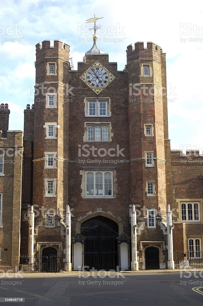 St James' Palace, Westminster, London royalty-free stock photo