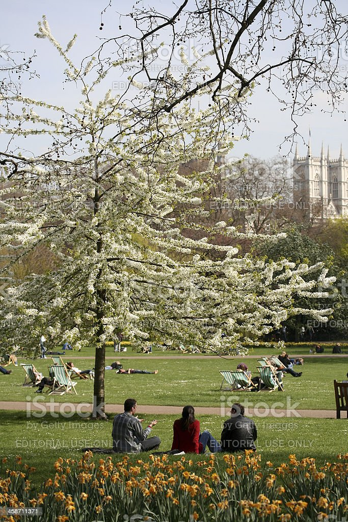 St James' Park in London, England royalty-free stock photo