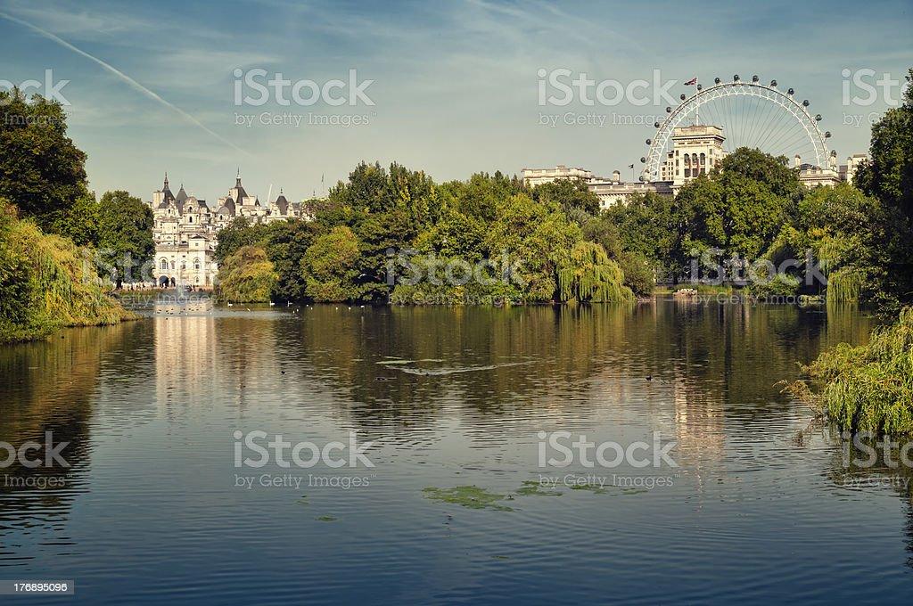 St, James Park, London. stock photo