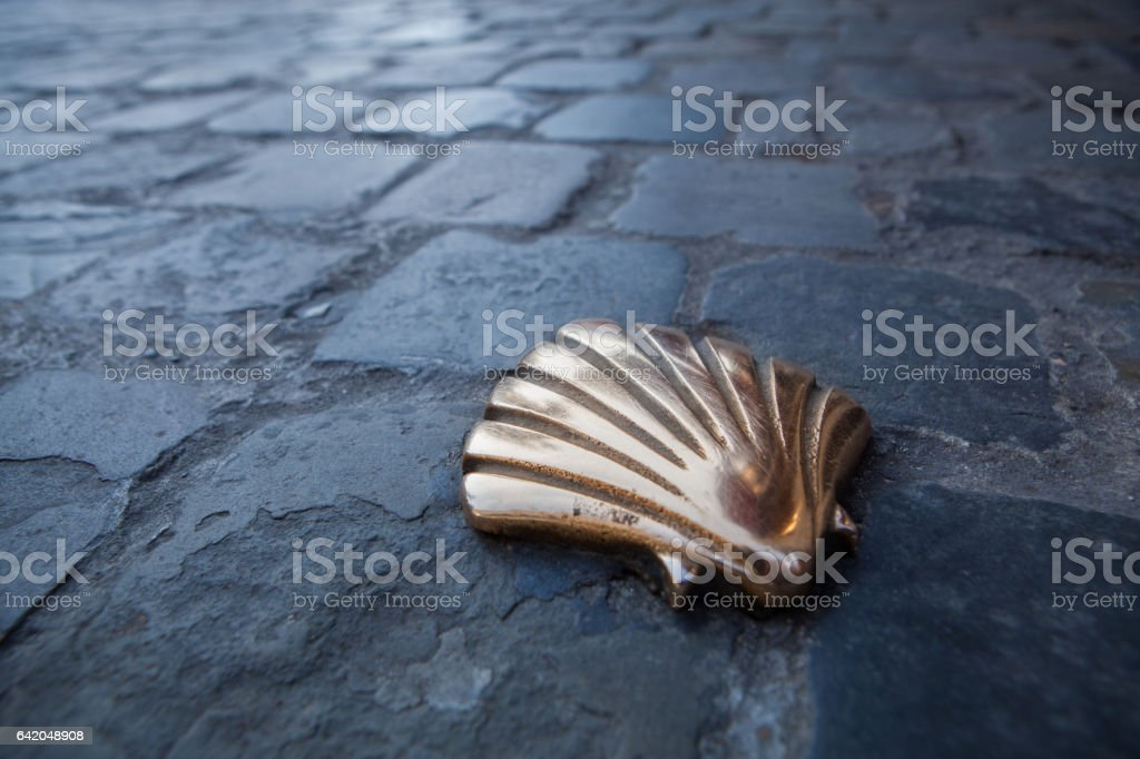 St James shell in Brussels stock photo