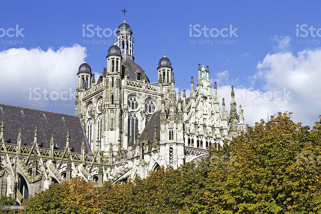 St. Jan Cathedral, 's Hertogenbosch # 13 XXL stock photo