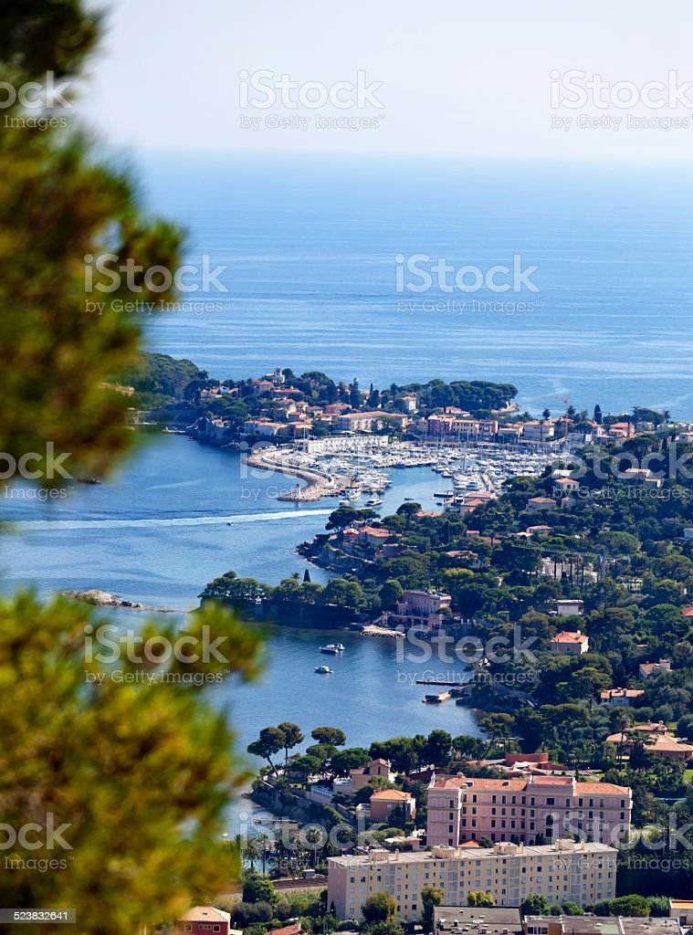 St Jean Cap Ferrat Harbour and Peninsula stock photo