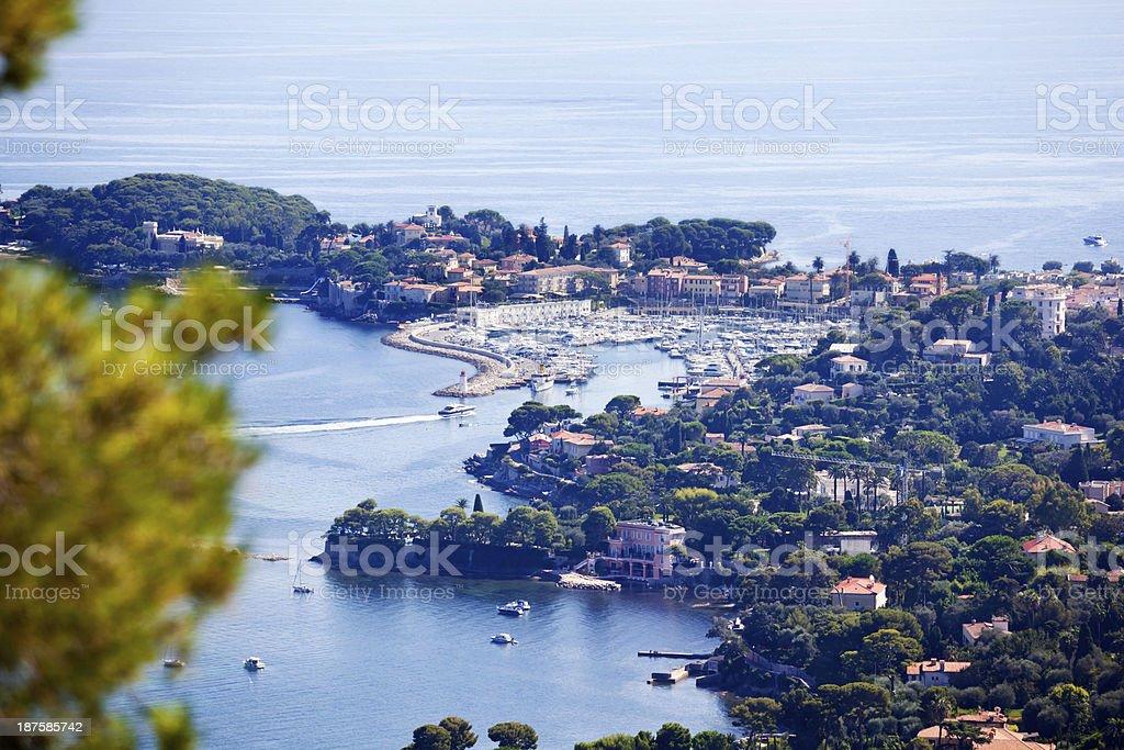 St Jean Cap Ferrat Harbour stock photo