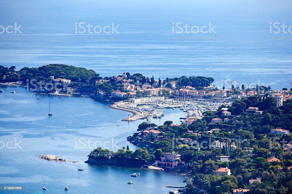 St Jean Cap Ferrat Peninsula stock photo