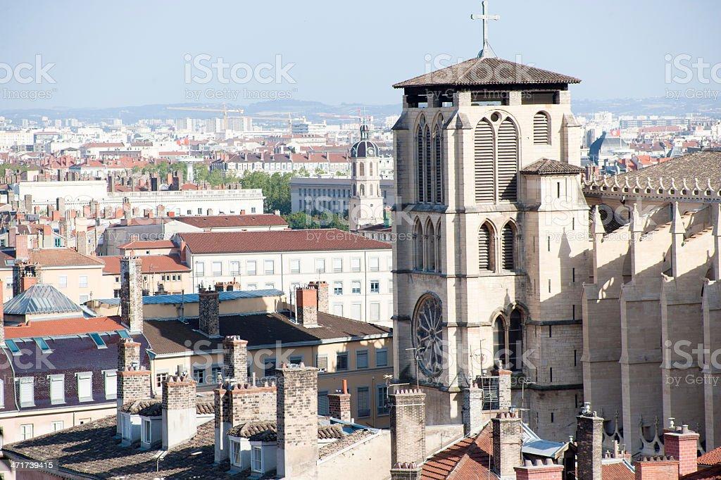 St. Jean church in Lyon, France stock photo
