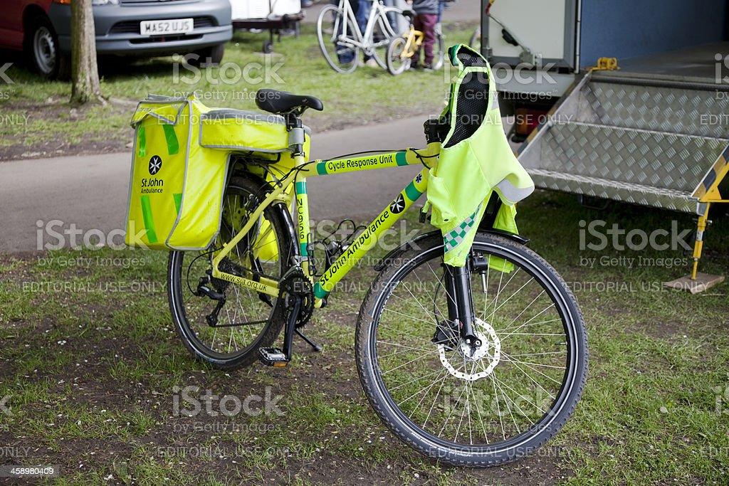St John Ambulance emergency bicycle royalty-free stock photo