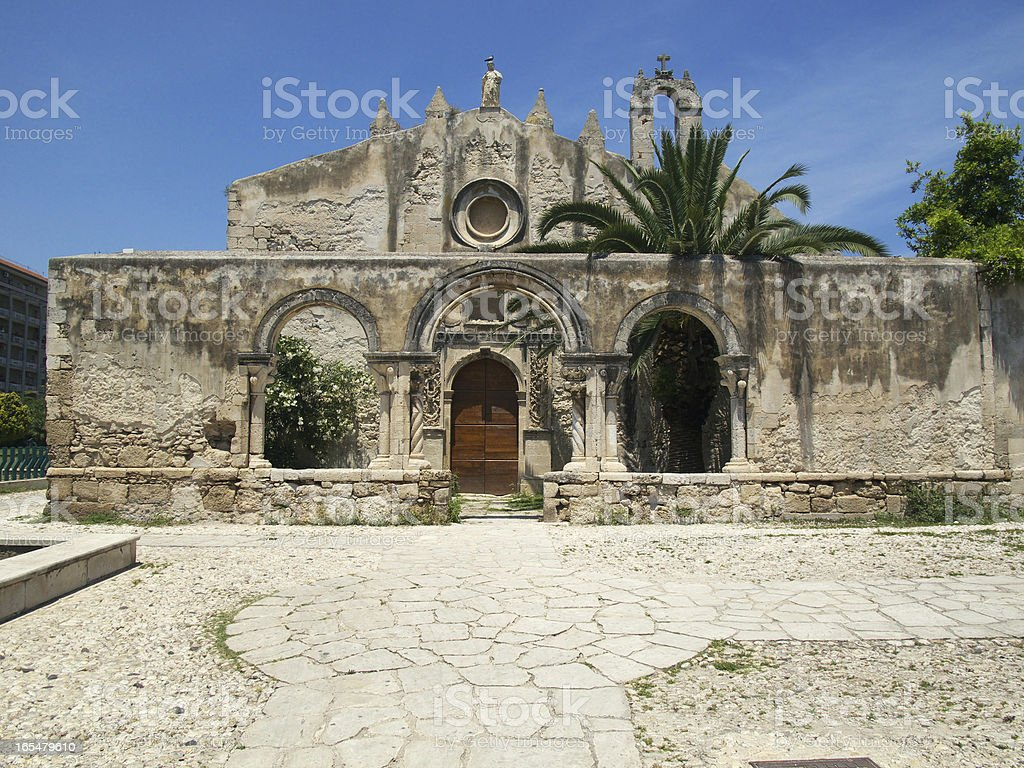 San Giovanni alle catacombe in Syracuse stock photo