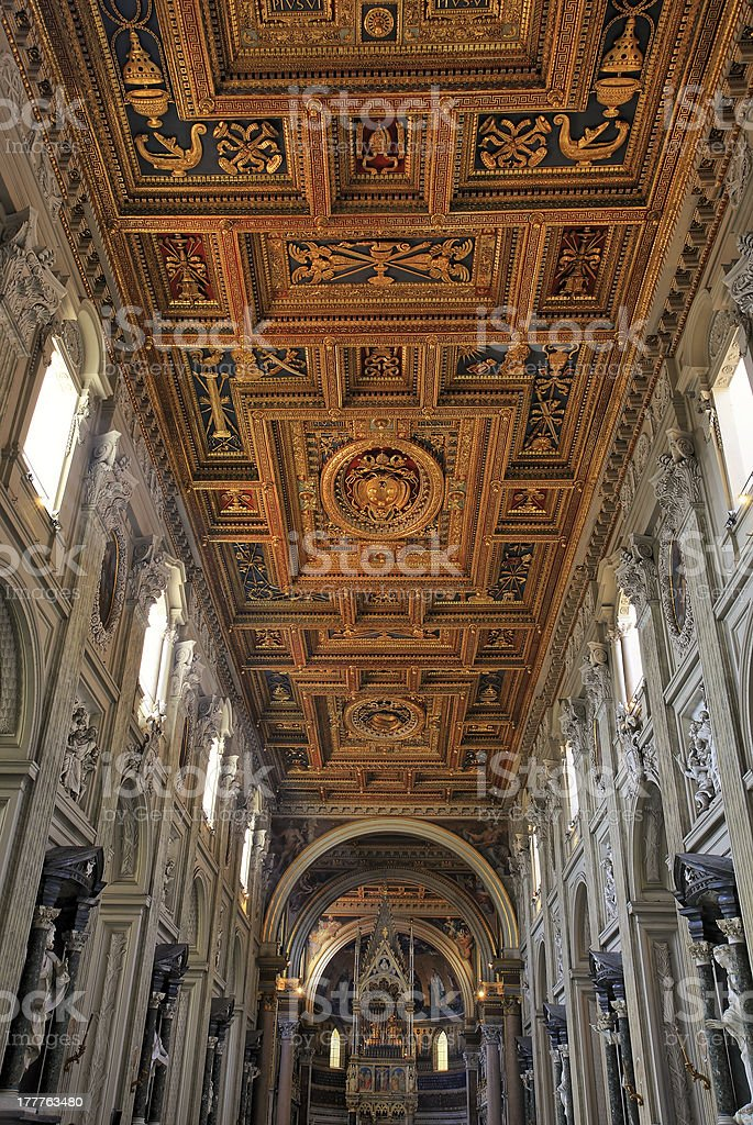 St. John Lateran, officially the cathedral of Rome stock photo