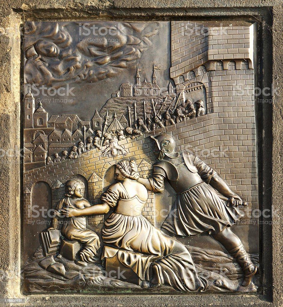 St. John of Nepomuk bronze royalty-free stock photo