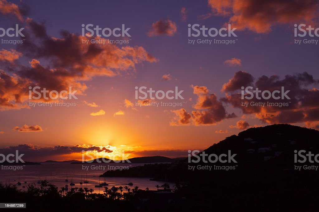 St John Sunset royalty-free stock photo