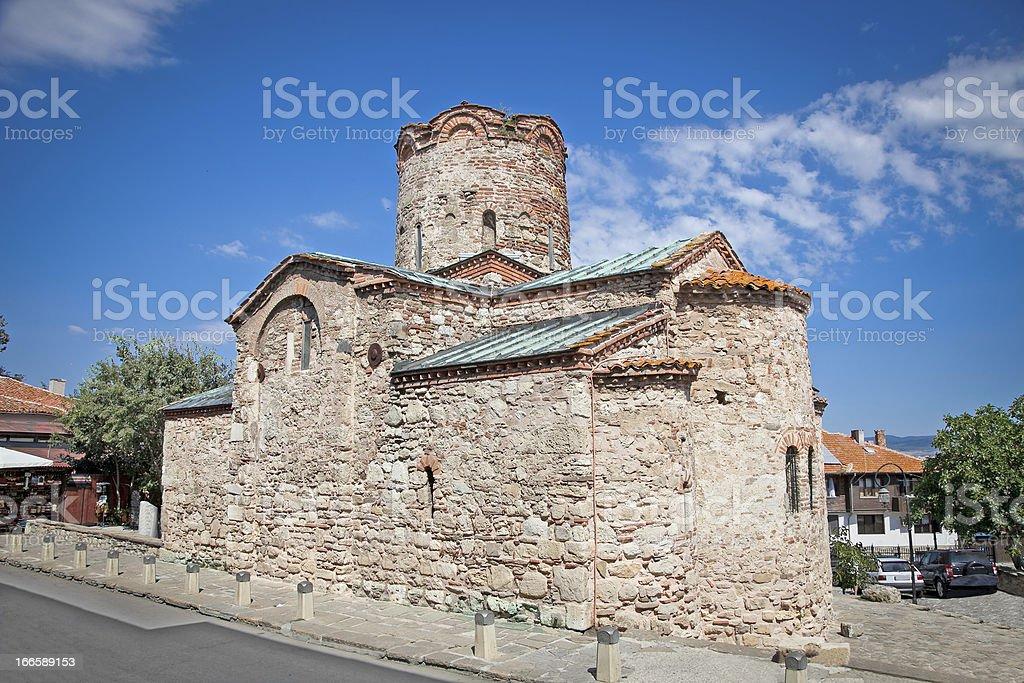 St. John The Baptist church in Nessebar, Bulgaria. stock photo