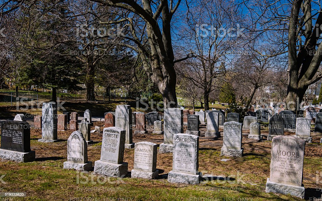 St. John The Baptist Norway Anglican Cemetery stock photo