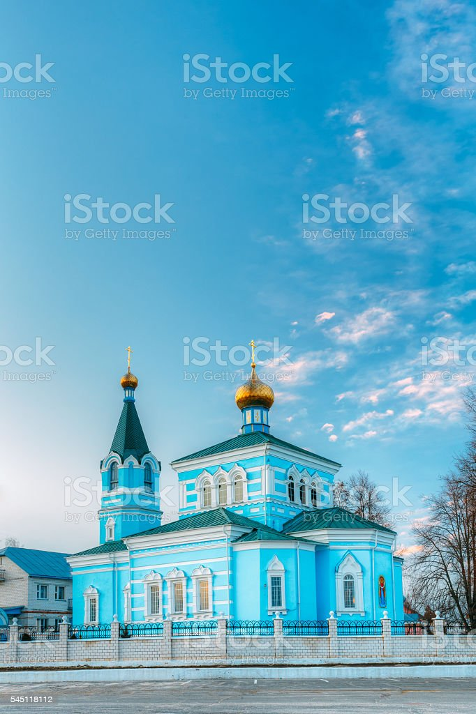 St. John the Korma convent - church in Korma, Belarus. stock photo