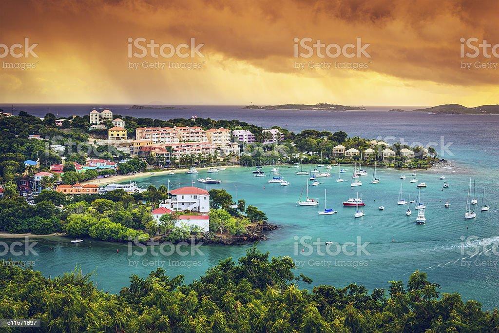 St. John US Virgin Island stock photo