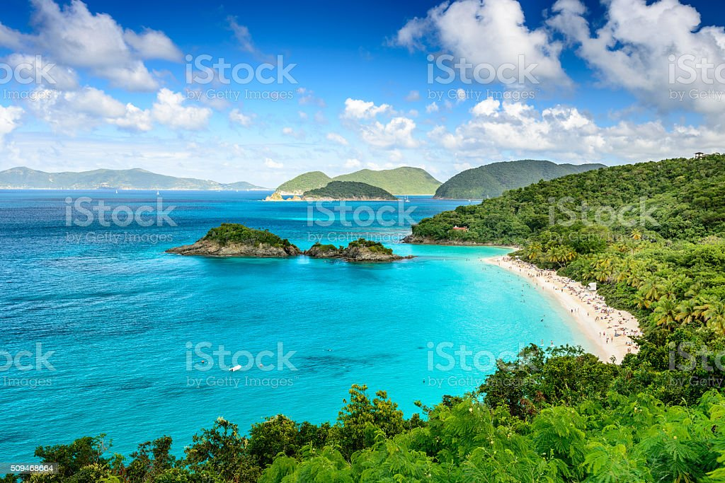 St. John USVI stock photo