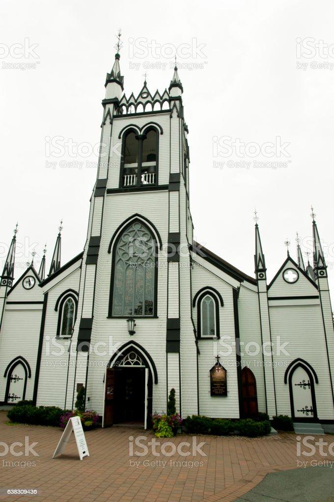 St John's Anglican Church - Lunenburg - Nova Scotia stock photo