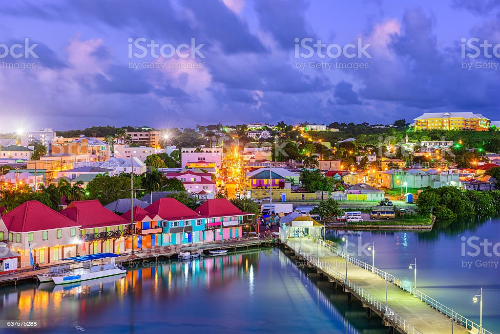 St. Johns Antigua stock photo