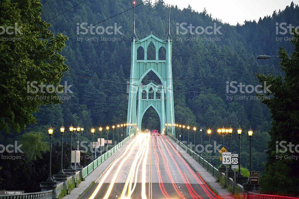 St. Johns Bridge stock photo