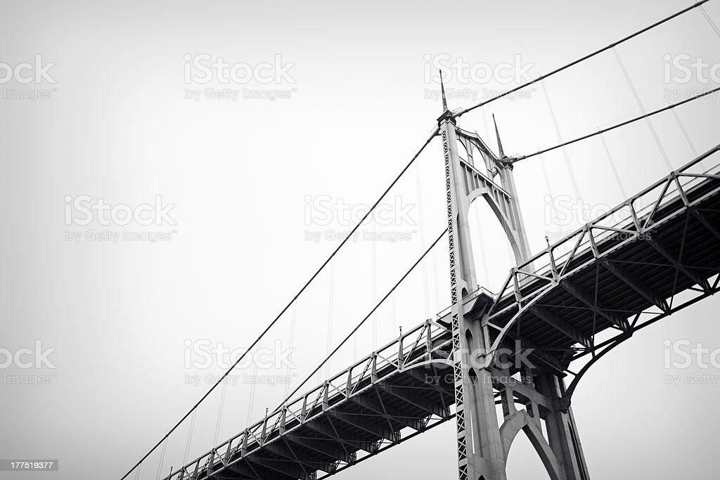 St. Johns Bridge Portland, Oregon stock photo