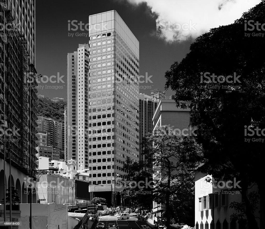 St. John's Building,  Hong Kong stock photo