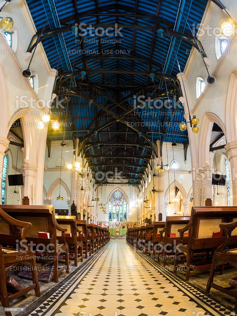 St. John's Cathedral in Hong Kong stock photo