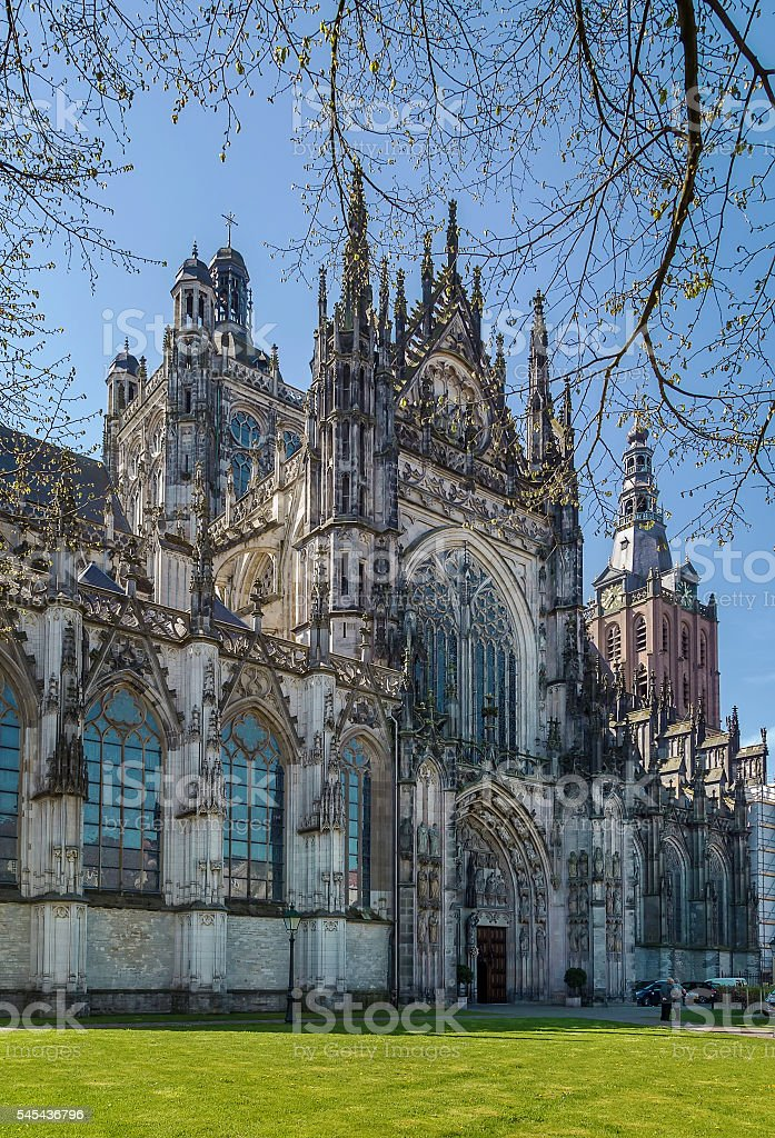 St. John's Cathedral, s-Hertogenbosch, Netherlands stock photo