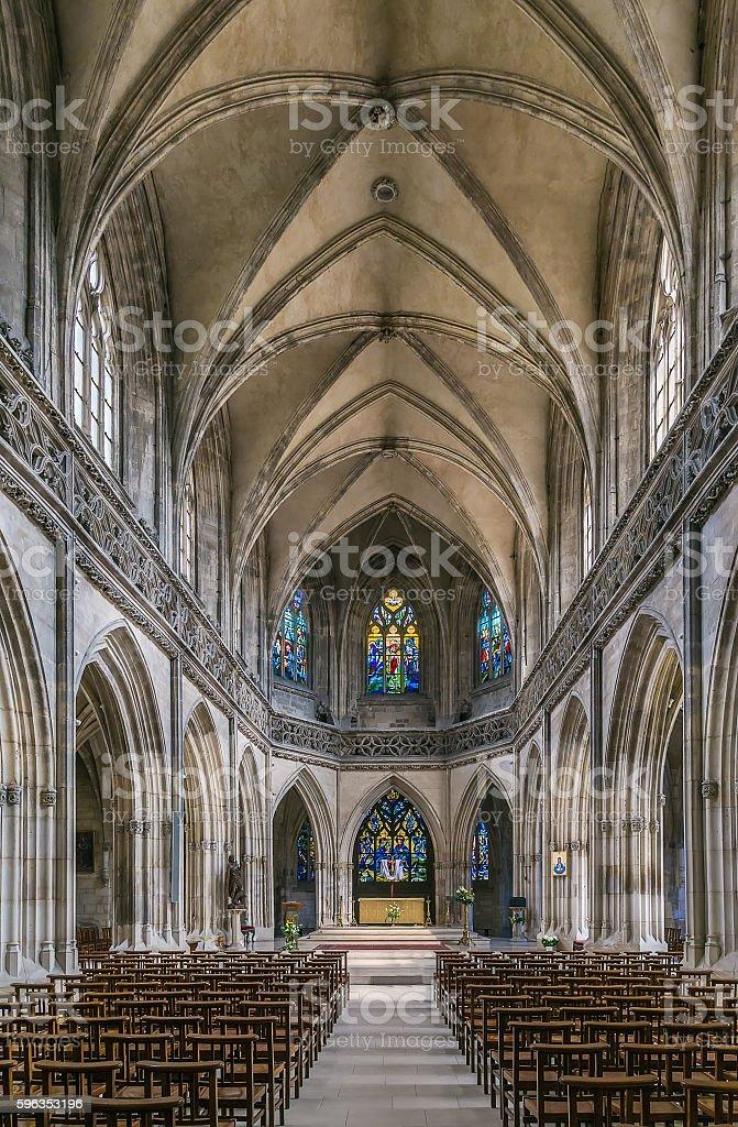 St John's Church, Caen, France stock photo