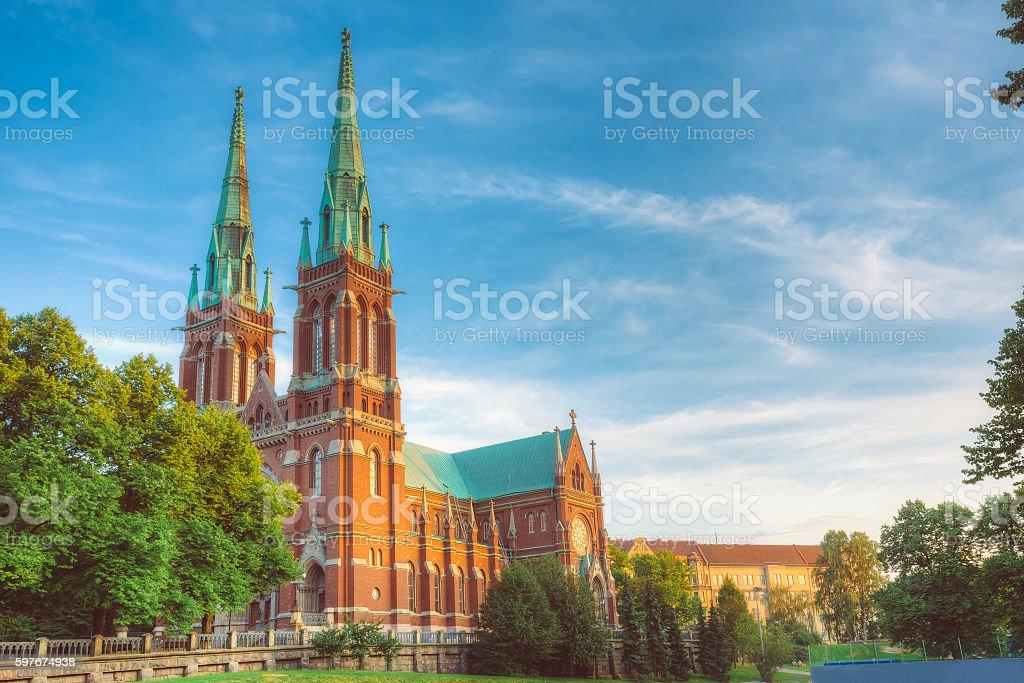 St. Johns Church. Johannes Church -  Famous Landmark In Helsinki stock photo