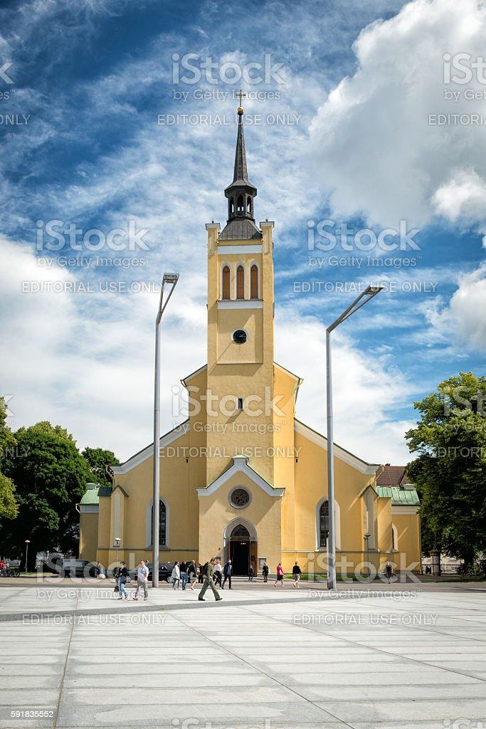 St. John's Church, large Lutheran parish church in Tallinn, Estonia stock photo