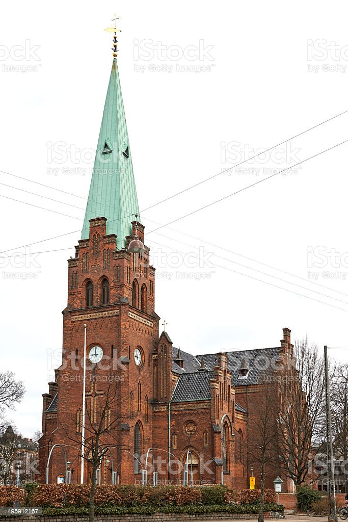 Sankt Johannes church stock photo