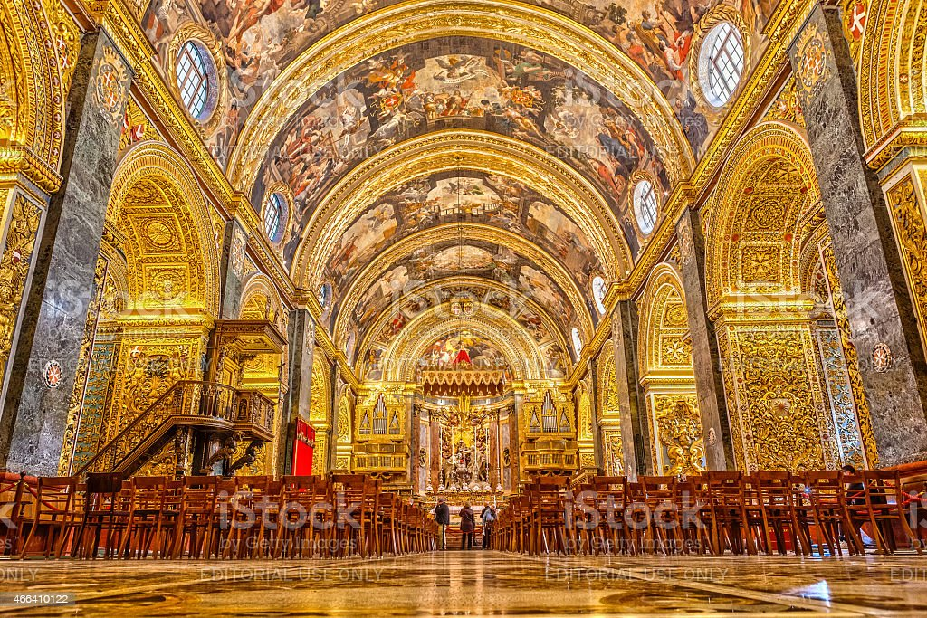St John'€™s Co-Cathedral interior stock photo