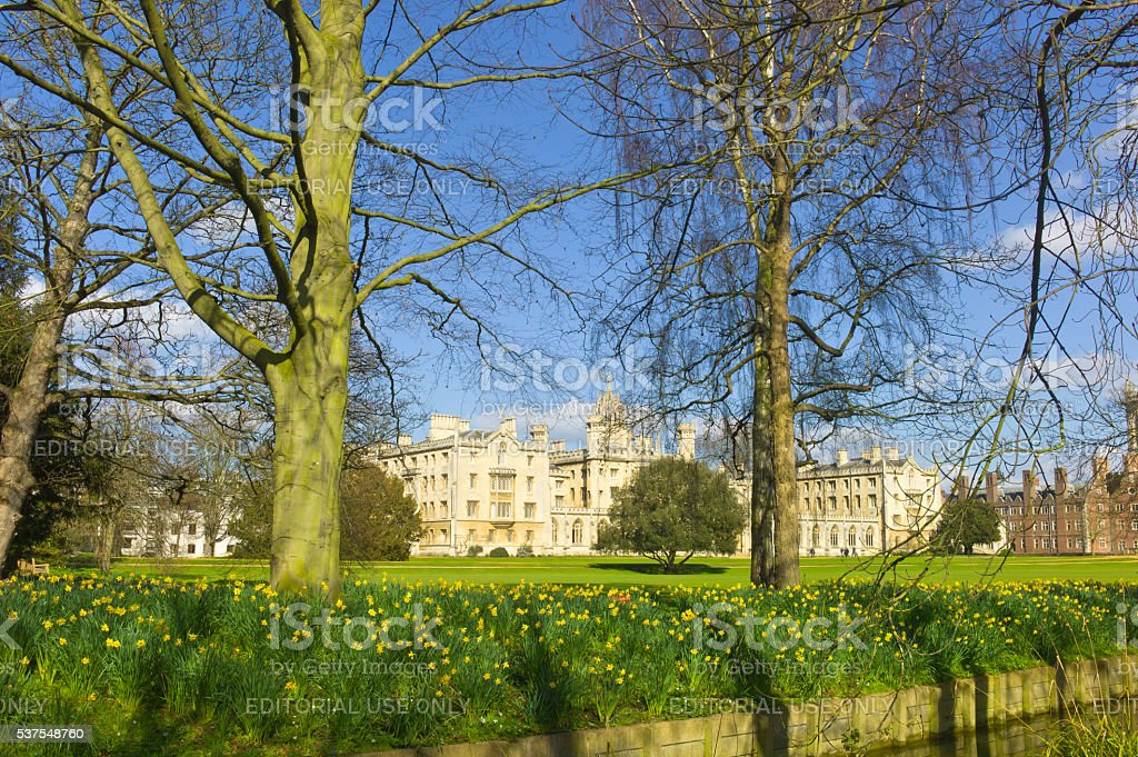 St John's College, Cambridge, UK stock photo
