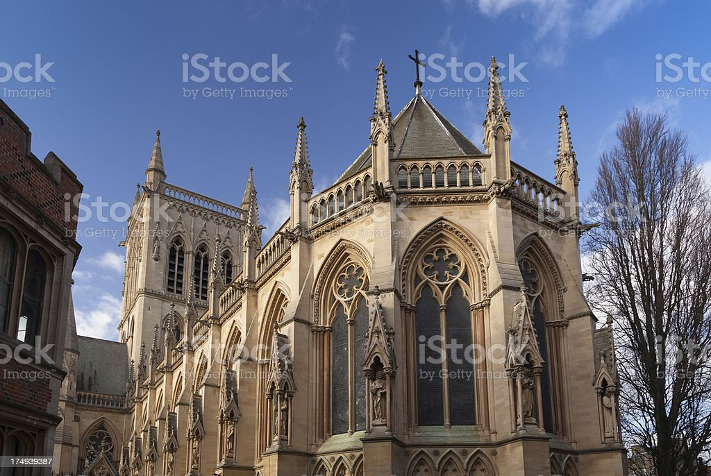 St John's College Chapel, Cambridge, UK royalty-free stock photo