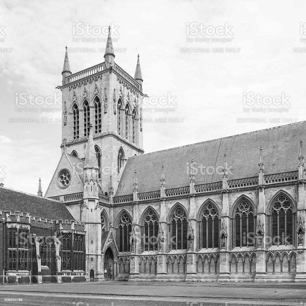 St Johns College Chapel in Cambridge University. England stock photo
