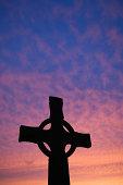 St Johns cross at sunset, Isle of Iona