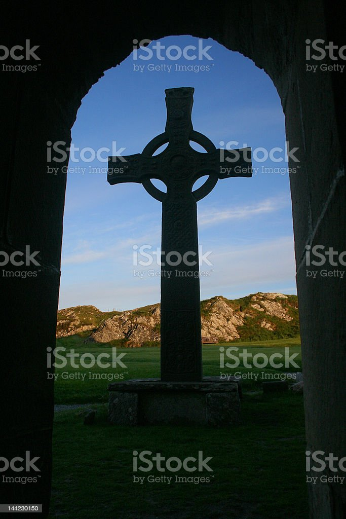 St. John's Cross stock photo