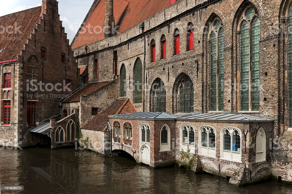 St John's Hospital, Bruges, Belgium royalty-free stock photo