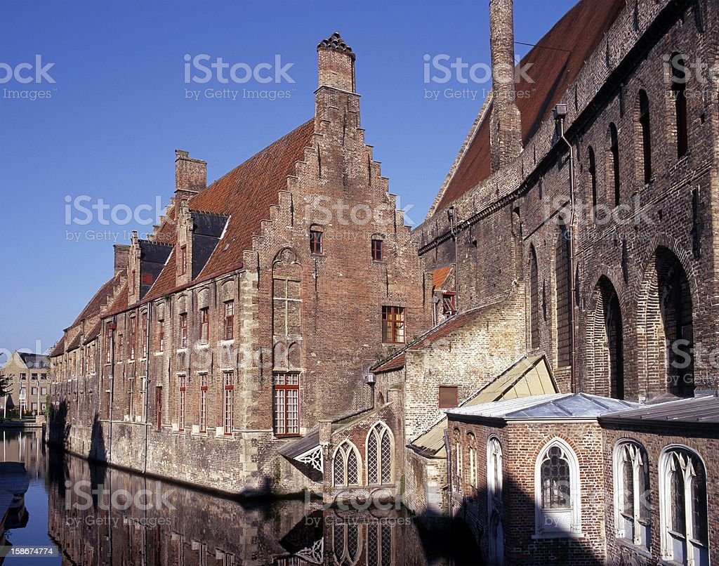 St. John's Hospital, Bruges, Belgium. royalty-free stock photo