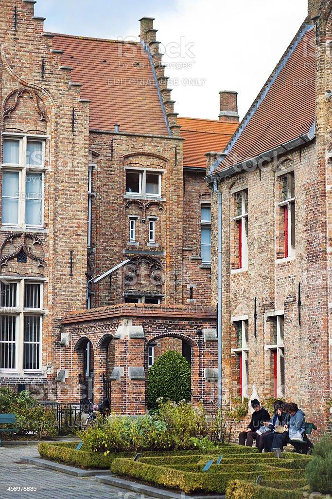 St John's Hospital, Bruges, Belgium stock photo