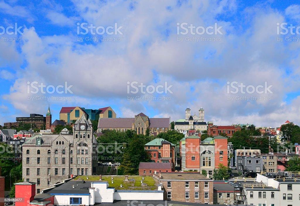 St. John's Inner City Skyline stock photo