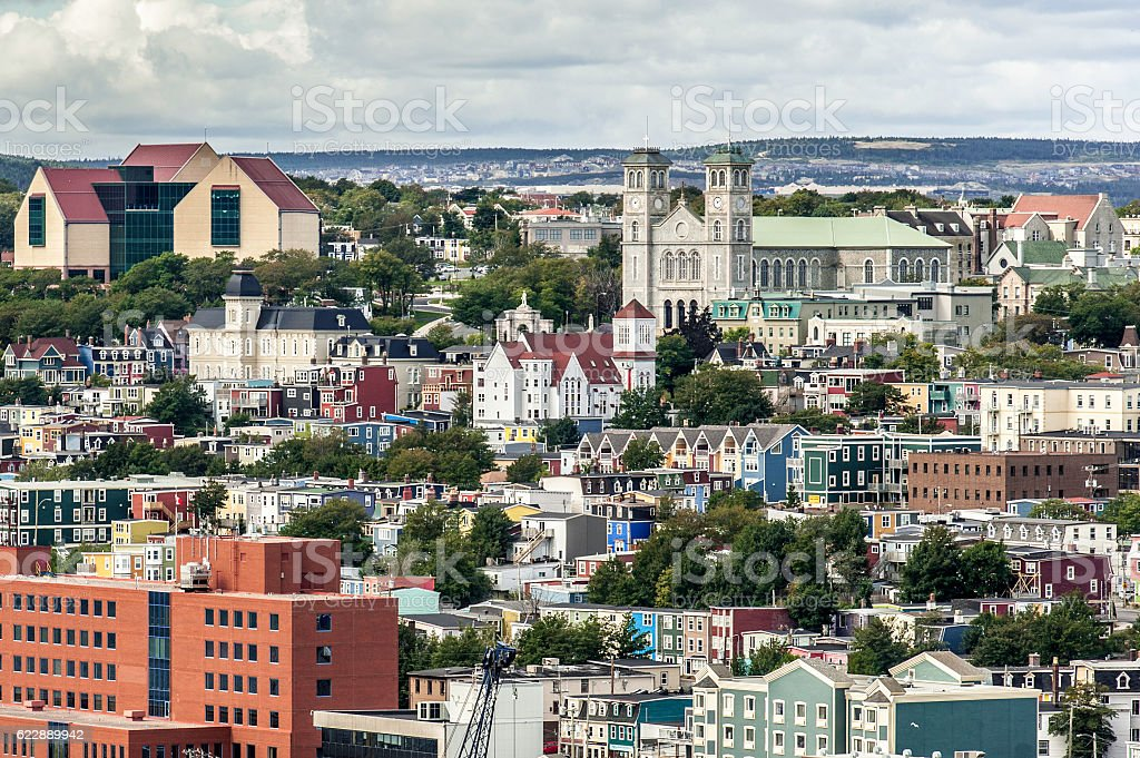 St. John's Newfoundland stock photo