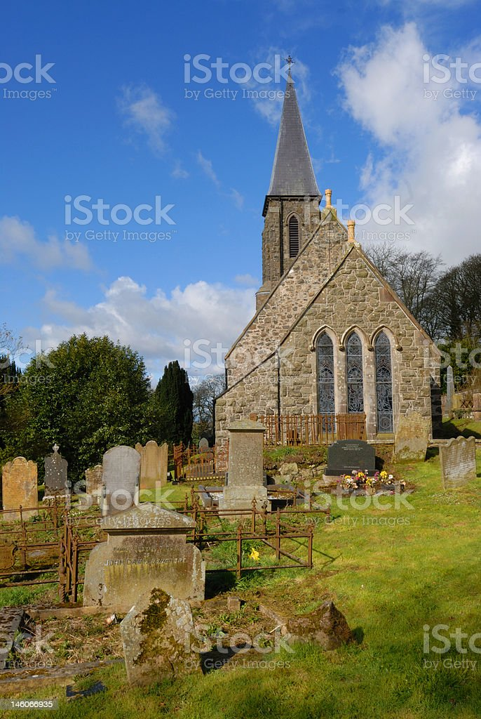 St John's Parish Church and graveyard stock photo