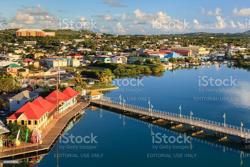 St Johns Waterfront stock photo