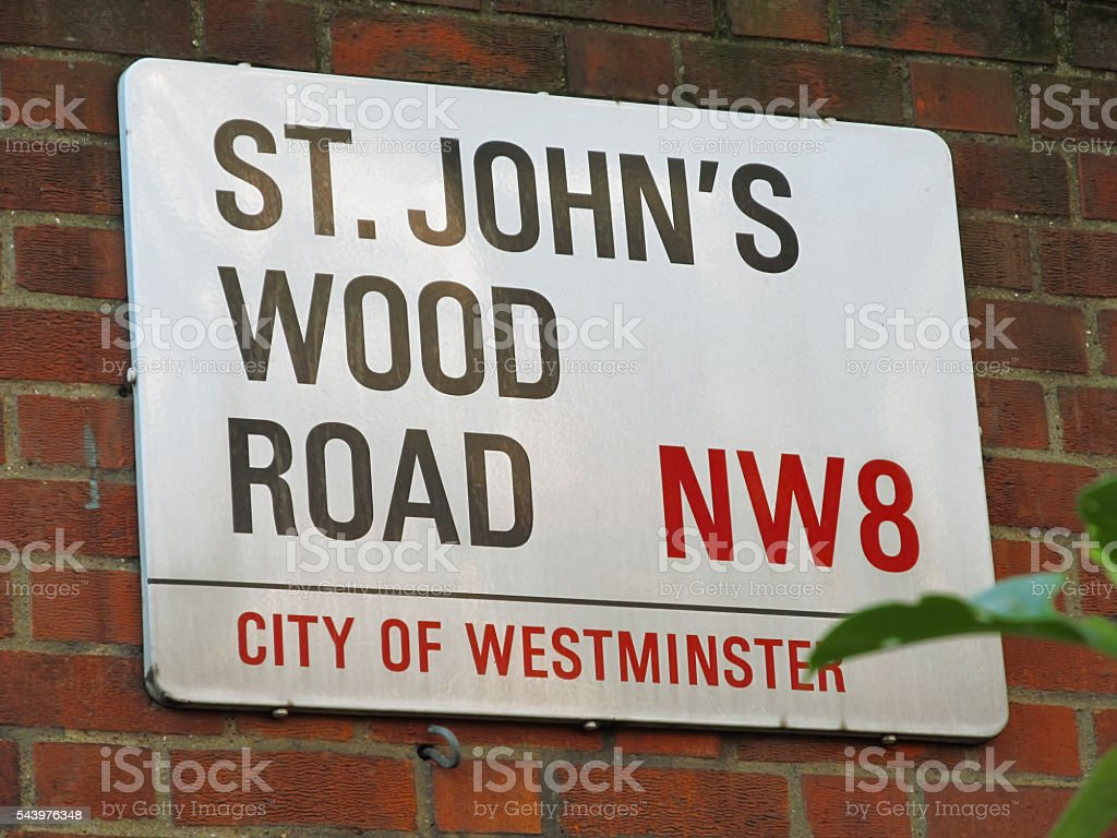 St John's Wood road stock photo